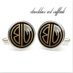 monogrammed cufflinks wedding gift ideas for by etnecklace on Etsy, $16.99