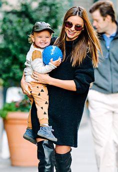 Miranda Kerr and her son Flynn had a happy playdate in NYC Nov. 18.