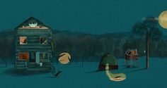 Picture Book 'Scared Of What Could' by Charlie Davis, via Behance