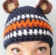 Go Bears Hat Handcrocheted Chicago Bears by DistinctlyDaisy, $24.20