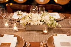White tulips (Floral Designer: Natalie Bowen Designs) - Emily & Gerry | February Wedding at Dogpatch WineWorks captured by Anne McElwain - via Snippet & Ink