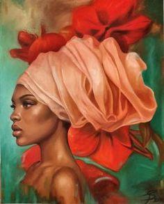 Black Girl Art, Black Women Art, Africa Painting, African American Artwork, African Art Paintings, Haitian Art, Art Hub, Black Artwork, Portrait Art