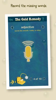 Sparkle Fish App (Free) - Hilarious audio story completion like Mad Libs. Offers in-app story purchases App Story, Adjective Words, App Of The Day, Likes App, Speech And Language, Language Arts, Mad Libs, Reading Intervention, Teaching Tools
