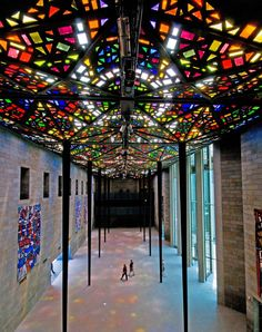 Commissioned by the Australian government, this vast art gallery planned by architect Roy Grounds opened its doors in August 1968. At the time, the Great Hall's soaring stained-glass ceiling, installed over a five-year period by Australian artist Leonard French, was the largest in the world and includes panes imported from Belgium and France.