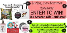 WIN! Contest open to June 20th, 2013! Enter to win a $50 Amazon gift certificate sponsored by Peacock Cards. #contest #giveaways #enter