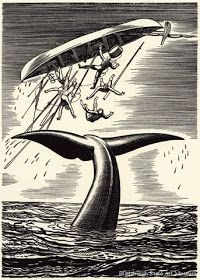 A Rockwell Kent-illustrated edition of 'Moby-Dick' is at the center of a new show at the Portland Museum of Art that reveals immense inspiration for artists. Rockwell Kent, Melville Moby Dick, Commemorative Stamps, White Whale, Wood Engraving, Stamp Collecting, American Artists, Art Museum, Illustration Art