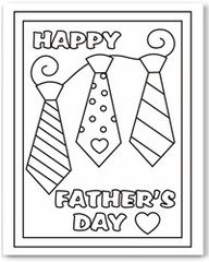 Free Fathers Day Coloring Page.