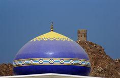 Oman | Blue Mosque with watch tower. credit: CharlesFred. view on Fb https://www.facebook.com/SinbadsOmanPocketGuide #oman #TravelToOman #SinbadPocketGuide