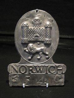 A RARE 18TH CENTURY NORWICH GENERAL ASSURANCE LEAD FIREMARK. CIRCA 1795.