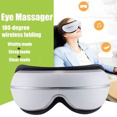 Eye Temple Massager with Air Heat Compression Music