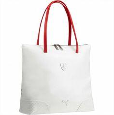 Bolsa Puma Ferrari Shopper Bag Whisper White Rosso Corsa  Puma Bolsa bd57cd6fe53