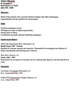 In Post This Time We Will Give A Example About Sample Of Director Of Example  Of Retail Clerk Resume That Will Give You Ideas And Provide A Reference For  ...