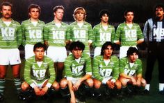 A.S SAINT-ETIENNE 1983-84. St Etienne, Team Photos, Football Soccer, Retro, Saints, Goals, Carrot, Kit, Club