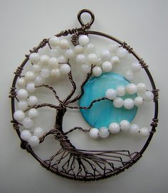 Twisted White Tree of Life with Moon by RachaelsWireGarden.deviantart.com on @deviantART