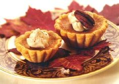 Heavenly Harvest Pumpkin Tarts Recipe Made this today for my family. I nice Fall dessert. Pumpkin Tarts, Pumpkin Pie Recipes, Tart Recipes, Apple Recipes, Sweet Recipes, Dessert Recipes, Chocolate Mousse Pie, Chocolate Recipes, Granola