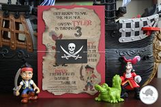 Jake and the Neverland Pirates DIY Invitations with FREE printables!