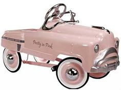Pretty in Pink pedal car from American Pedal Car - tee hee