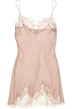 Tess' fave couture lingerie designer - Carine Gilson silk-satin chemise