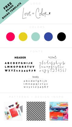 how to pick the perfect font palette for your brand + FREE brand board template | LOVE PLUS COLOR