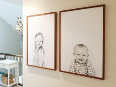 With these two photos, I got to freeze time and capture a beautiful, life-sized season of my children's lives. Every time I walk by, I am stopped in my tracks. I will cherish these forever and I will never grow tired of looking at them.  Our daughter Vada, 6, with freckles and her two missing front teeth - a right of passage, a momentous occasion in her elementary life. Our son, Vaughn, 2 - barely two - all squishy with his baby chub and his soft baby hair.     You can recreate t...