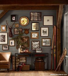 Beautiful and rustic gallery wall