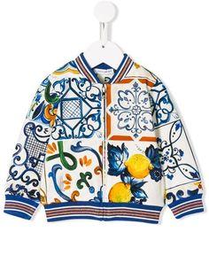 781edd7e0 Dolce & Gabbana Kids Majolica Print Bomber Jacket - Farfetch