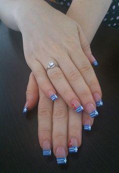Greek flag nails