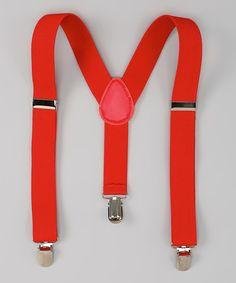 Loving this Red Suspenders on #zulily! #zulilyfinds