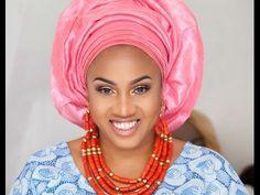 STEP BY STEP HOW TO TIE NIGERIAN YORUBA GELE TUTORIAL FOR BELLA NAIJA WEDDINGS  THE BEAUTICIANCHIC - YouTube