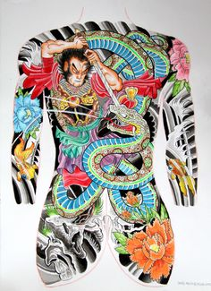 japanese body suit drawing - Google Search