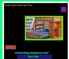 Single Double Bunk Bed Plans 081634 - Woodworking Plans and Projects!