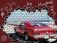 Graffiti Wall | Graffiti wall car mustang