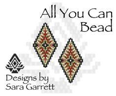 Peyote Earrings Pattern 167 Bead Weaving INSTANT DOWNLOAD PDF