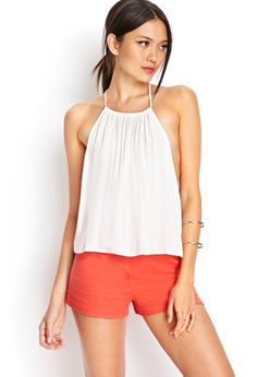 Linen-Blend Shorts | FOREVER21 #SummerForever