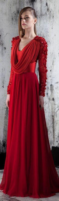Basil Soda RTW F/W 2014 - red gown