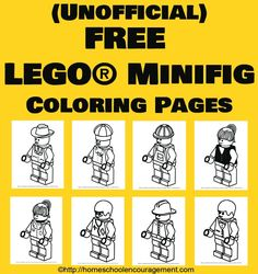 LEGO® Coloring Pages 8 adorable town minifigs will make your LEGO® fan very happy! Print, color, adorable town minifigs will make your LEGO® fan very happy! Lego Coloring Pages, Coloring Sheets, Free Coloring, Lego Birthday Party, 11th Birthday, Birthday Ideas, Birthday Parties, Lego Activities, School