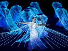 The whirling Diana Vishneva at the Sochi 2014 Olympics opening ceremony. (Photo REUTERS/Brian Snyder via yahoo.com)