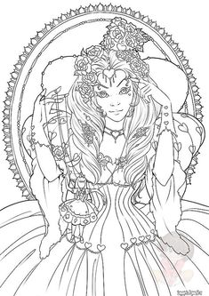 Red Queen Coloring Book New the Red Queen February S Digital Coloring Page Blank Coloring Pages, Skull Coloring Pages, Summer Coloring Pages, Horse Coloring Pages, Fairy Coloring Pages, Adult Coloring Book Pages, Colouring Pics, Disney Coloring Pages, Coloring Books