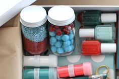 Crafty (& Handy) | Making it Lovely - A Craft Gift Box! Good Idea!