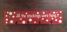 Stocking Hanger by CraftsCarafes on Etsy