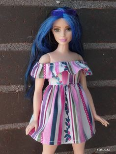 Dress for Barbie CURVY dolls.
