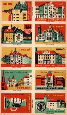 Czech matchbox labels