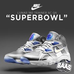 "NIKE LUNAR 180 TRAINER SC QS ""SUPERBOWL""  Code: 646797-001  www.sneakerbaas.nl"