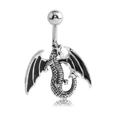 The Winged Dragon Belly Ring - Popular Mythology Belly Jewellery. Find it at www.tummytoys.com.au