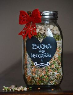 Un amore di zuppa - Giulia Golino - Cook Eat Love Diy Christmas Gifts, Christmas Time, Christmas Decorations, Shabby Chic Jars, Merry Christams, Soup In A Jar, Xmax, Food Jar, Jar Gifts