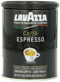 Lavazza Caffe Espresso - Medium Ground Coffee, Cans (Pack of : Grocery & Gourmet Food Coffee Type, Coffee Pods, Hot Coffee, Folgers Coffee, Easy Coffee, Coffee Blog, Coffee Canister