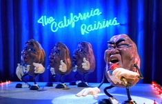 """""""I guess you wonder how I knew, about your plans to make blue....""""  The California Raisins--I Heard It Through the Grapevine."""