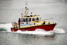 A NSRI boat in the harbour, Port Elisabeth, South Africa.