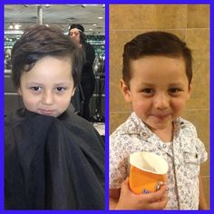 @jazmin7reynoso Before and After! Ready for easter pictures tomorrow #boyhaircut #beforeandafter #hendrix #visiblechanges