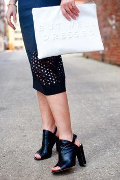 Pencil Skirt & Mules